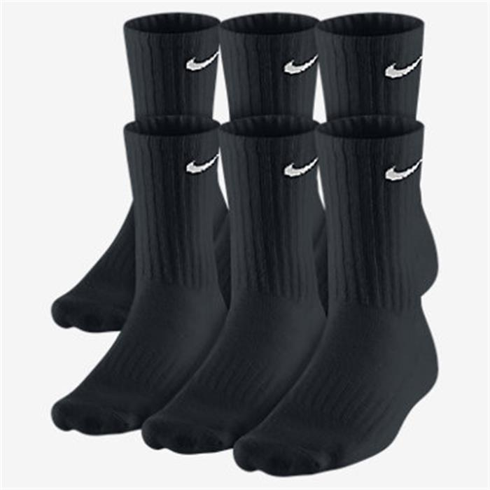chaussettes nike x 6 hautes noires ecosport. Black Bedroom Furniture Sets. Home Design Ideas