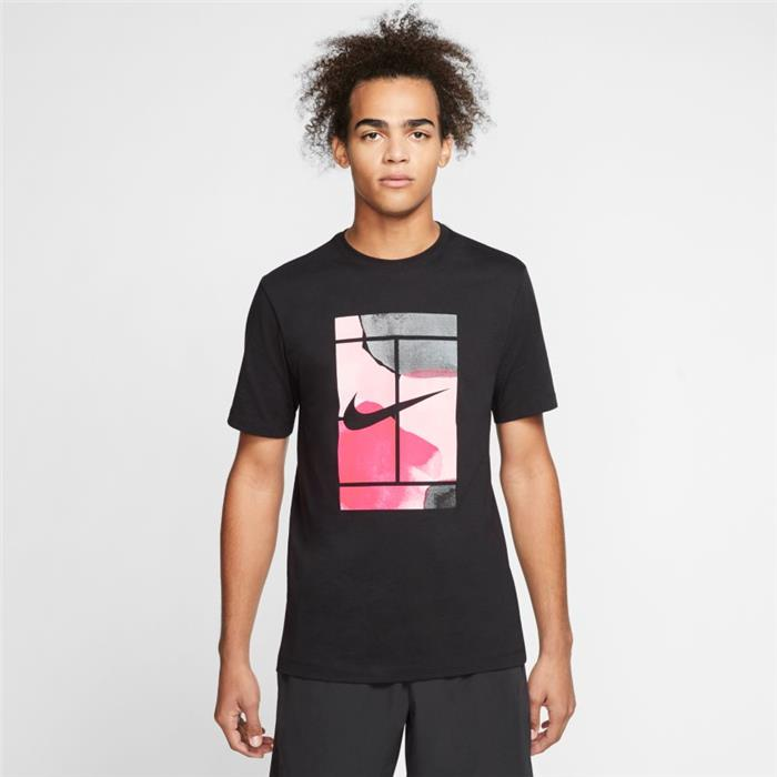 Tee Shirt Nike men Court Tennis CQ2422 010 Ecosport Tennis