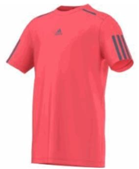 Tee Shirt Adidas Barricade flash red s 15 junior AX9619