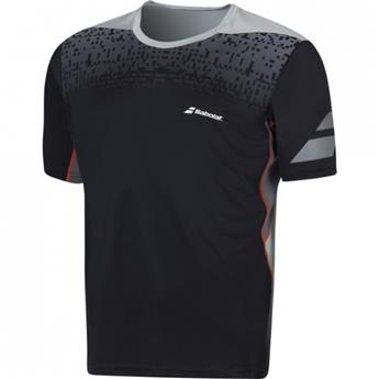 Tee Shirt Babolat Perf Crew Neck junior noir