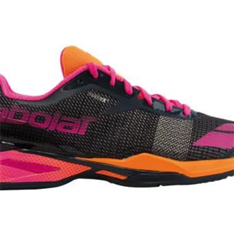 Chaussure Babolat Jet all court Women gris orange rose