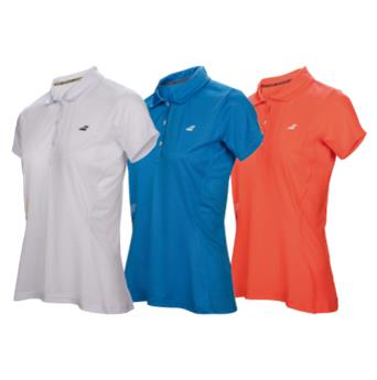 Polo  Babolat Core  club  Women  rouge fluo