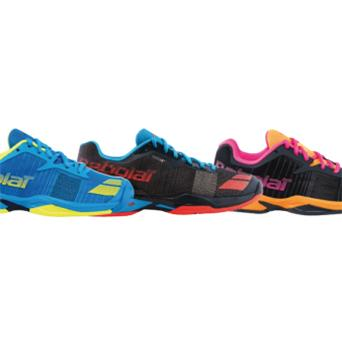 Chaussures Babolat Jet All Court Junior  bleu jaune