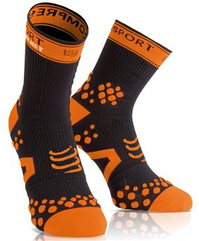 chaussettes-compressport-straping-35-38-noir-orange