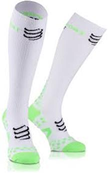 Chaussettes compressport full Racket white