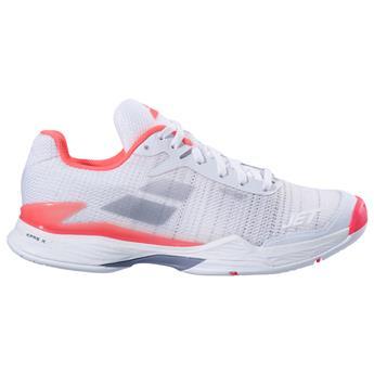 Chaussures de tennis Babolat Jet Mach II All Court Women Fluo Pink Silver Fandango-Taille 39  Gold PNiAOWyXs
