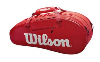 Sac Wilson Super Tour 2 comp small red  x 6 raq WRZ840803
