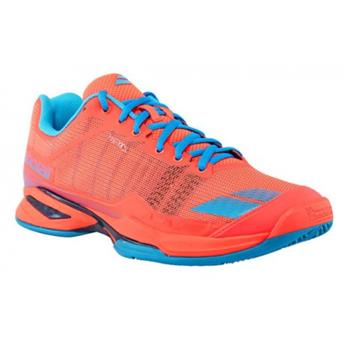 Chaussure Babolat Jet team Clay court men  rouge fluo