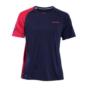 Tee Shirt Babolat Perf Crew Neck men black/salsa