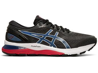 Chaussure Asics Gel Nimbus 21 black/electric blue