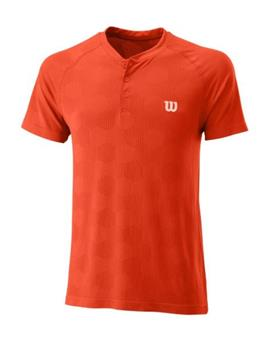 Tee Shirt Wilson men Power Seamless Henley wra778801