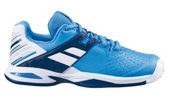 Chaussure Babolat Propulse ac Jr white/blue aster