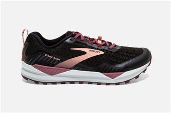 Chaussures Brooks Women Cascadia 15 black/ebony/coral cloud